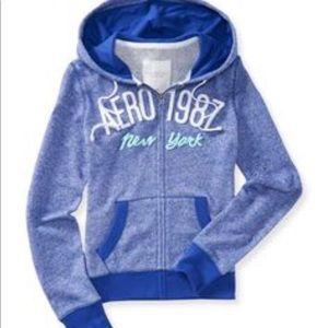 Aeropostale purple blue zip up sweatshirt!